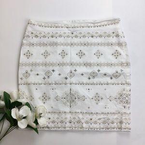 White House Black Market Beaded Skirt Size 6